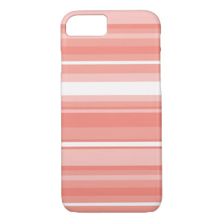 Coral stripes iPhone 8/7 case