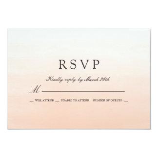 Coral Watercolor Wedding RSVP Response 9 Cm X 13 Cm Invitation Card