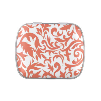 Coral Wedding Party and Event Candy and Mints Jelly Belly Tin