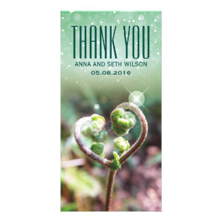 Cordate Fern Thank You Photo Card