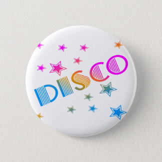 COREY TIGER 1980s RETRO DISCO STARS 6 Cm Round Badge