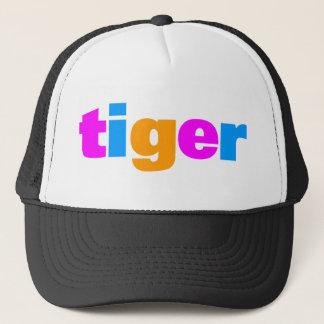 COREY TIGER 1980's RETRO MULTI COLOUR TEXT Trucker Hat