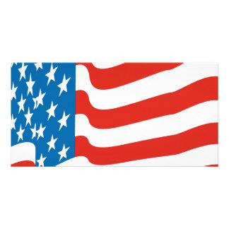 Corey Tiger 80s Vintage American Flag Card