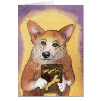 Corgi Dog Graduate Award CARD