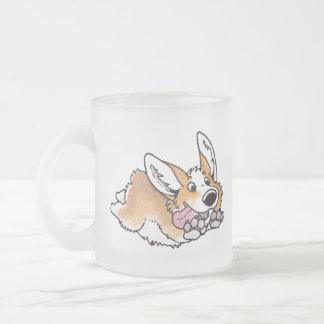 Corgi Frosted Glass Mug