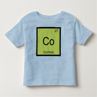 Corinne Name Chemistry Element Periodic Table Toddler T-Shirt