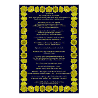 Corinthians I-12 in a Prickly Pear Cactus Frame Poster