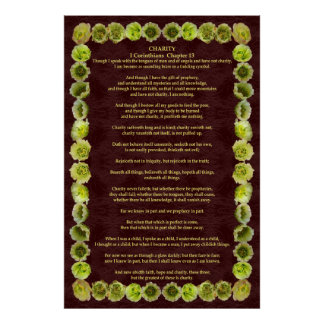 Corinthians I-13 in a Cholla Cactus Frame Poster