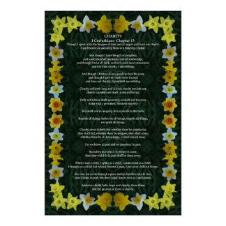 Corinthians I-13 in a Daffodil Frame Poster