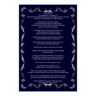 Corinthians I-13 in Flying Seagull Border Poster