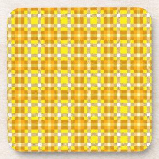 Cork Coaster seamless pattern tartan