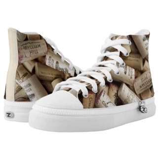 Cork High Top Shoes Printed Shoes