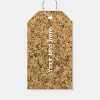 Cork Look Gift Tags