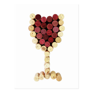 Cork Wine Glass Postcard
