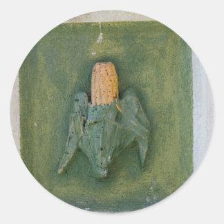 Corn Cob Round Stickers
