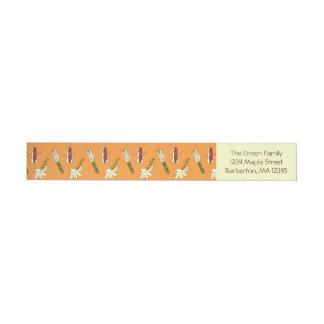 Corn Husks: Orange-Yellow Return Address Labels