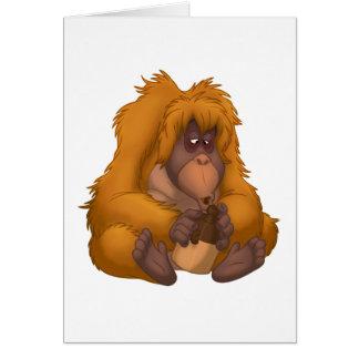 Corn-Jug-Playin' Orangutan Note Card