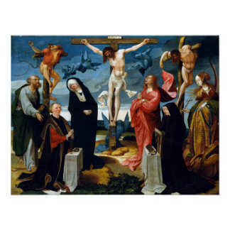 Cornelis Engebrechtsz The Crucifixion with Donor Poster