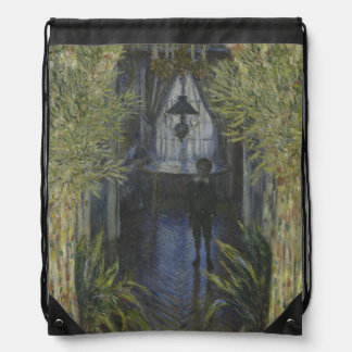 Corner of the Apartment by Claude Monet Drawstring Bag