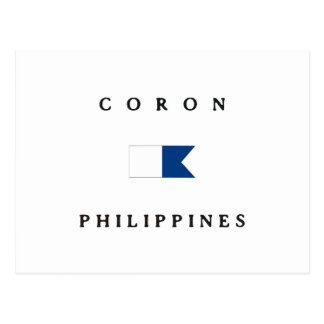 Coron Philippines Alpha Dive Flag Postcard