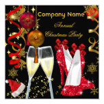 Corporate Holiday Christmas Party Champagne Heels Personalized Invitation