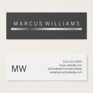 corporate Silver Bar Accent Mini Business Card