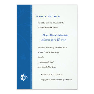Corporate Vines Blue 13 Cm X 18 Cm Invitation Card