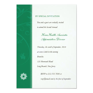 Corporate Vines Emerald 13 Cm X 18 Cm Invitation Card