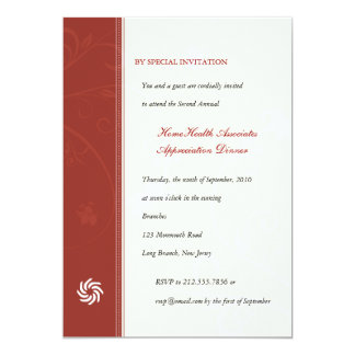 Corporate Vines Scarlet 13 Cm X 18 Cm Invitation Card
