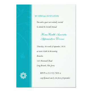 Corporate Vines Turquoise 13 Cm X 18 Cm Invitation Card