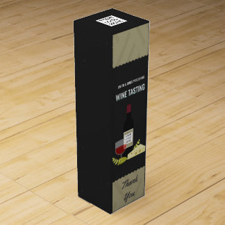 Corporate Wine Tasting/ Wine and Cheese add logo Wine Bottle Boxes