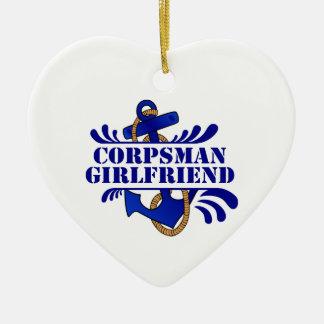 Corpsman Girlfriend, Anchors Away! Christmas Ornament