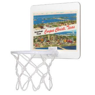 Corpus Christi Texas TX Vintage Travel Souvenir Mini Basketball Hoop