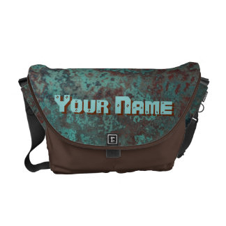 "Corrosion ""Copper"" print Name messenger bag"