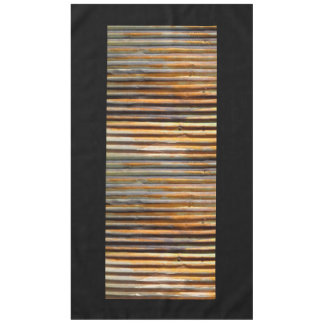 Corrugated Rust Tablecloth