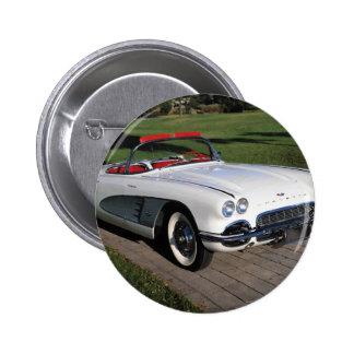 Corvette antique cars classic autos vintage cars 6 cm round badge
