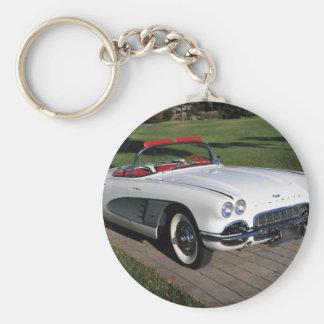 Corvette antique cars classic autos vintage cars basic round button key ring