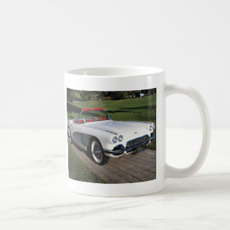 Corvette antique cars classic autos vintage cars basic white mug