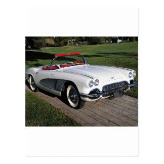 Corvette antique cars classic autos vintage cars postcard