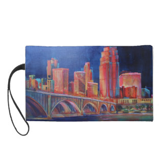 Cosmetic Bag-Minneapolis Skyline Wristlet