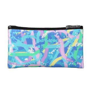 Cosmetics bag - Seaweed Design in Sunlit Bubbles Makeup Bag
