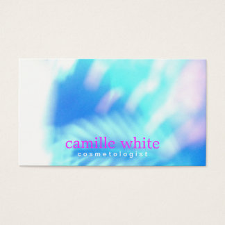 Cosmetology Turquoise Blue Abstract Spa and Salon Business Card