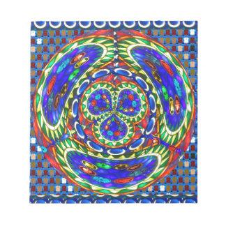 Cosmic Blue Spiritual Ghost Art by Navin Joshi Notepad