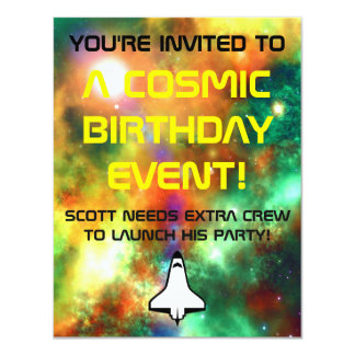 Cosmic Boys party Invite