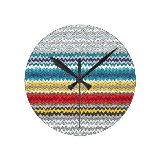 cosmic chevron round clock