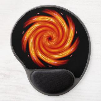 Cosmic Digital Flower Gel Mousepad Orange & Red