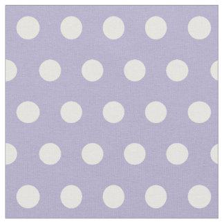 Cosmic lavender/purple & white polka dots fabric
