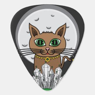 Cosmic Moon Cat - Blue/Green - Guitar Pick
