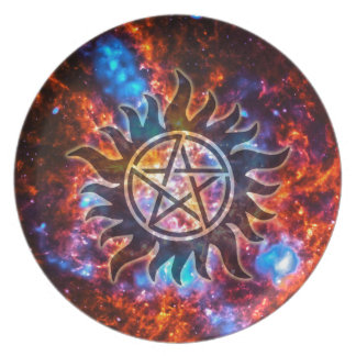 Cosmic Pentagram Party Plate