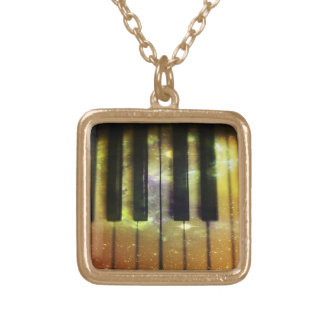 Cosmic Piano Gold Plated Necklace